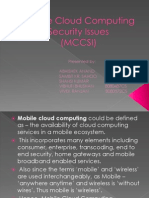Mobile Cloud Computing Security Issues