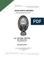 Ponce Sanjinés, Carlos - 1992 - La Cultura Nativa en Bolivia