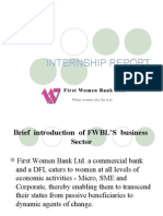 Internship Report on First Woman Bank