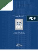 Bear Stearns Annual Report 2006