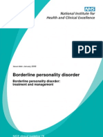 NICE Guidelines 2009 - Borderline Personality Disorder Treatment and Management