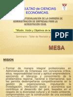 Mision, Vision y Objetivos Administración_Empresas