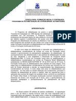 Plano de  Formação Inicial e Continuada do PBA-Proposta Pedagógica