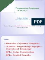 Roland Rudiger- Quantum Programming Languages:A Survey