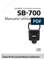 Manual de Utilizare Nikon SB-700