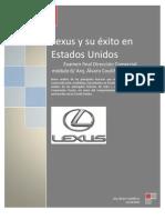 Lexus y su éxito en Norteamérica