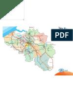 Carte réseau SNCB Belgique 2011