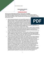 Public Policy Update 12-2-11