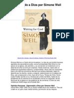 Esperando a Dios por Simone Weil - Averigüe por qué me encanta!(1)