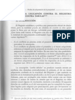 Usucapion contra Registro