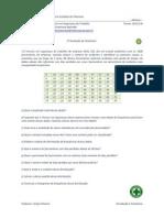1ª Av. Introdução a Estatística SEG