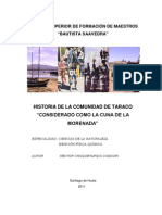 Historia de La Comunidad Taraco
