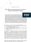 Faith, Ethics, And Communication-Some Recent Writing in Philosophical Theology