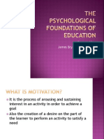 The Psychological Foundations of Education