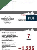 Feedback Summary Summits March-May 2011