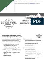 Verbatim Feedback Cluster-Based Meetings January-March 2011
