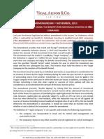 Tax Memorandum Angel Law - Israel - November 2011