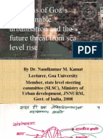 Goa's urbanisation and the impact of sea level rise-by Dr. Nandkumar M kamat