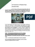 History and Importance of Masjidul Aqsa