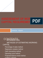 Assesement of Working Capital Requirements