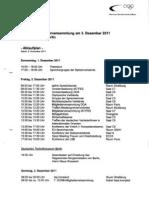 DOSB_MGV2011_Ablauf_1./2. Dezember 2011