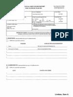Sam A Lindsay Financial Disclosure Report for 2010