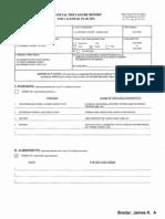 James K Bredar Financial Disclosure Report for Bredar, James K