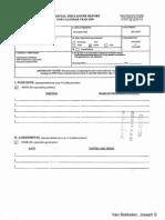 Joseph S Van Bokkelen Financial Disclosure Report for 2009