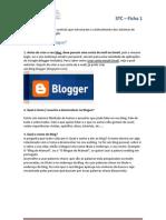 Ficha 1- Como Fazer Um Blogue