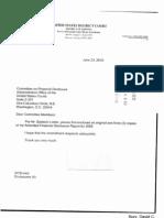 David C Bury Financial Disclosure Report for 2009