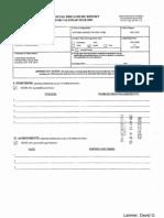 David G Larimer Financial Disclosure Report for 2009