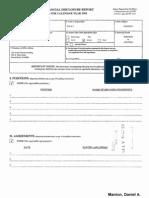 Daniel A Manion Financial Disclosure Report for 2010