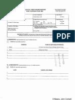 John Corbett OMeara Financial Disclosure Report for 2009