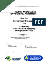 DRAFT CDEM ECan Service Level Agreement 0809 28 Apr 08