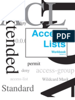 Cisco Access Control List Workbook 1.0