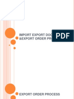 Import Export Document &Export Order Process