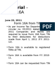 E-Tutorial - Form 16A