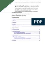 SofwareDocumentation Checklists