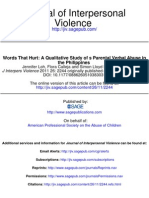 3. a Qualitative Study of Parental Verbal Abuse in the Philippines