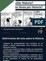 Por qué estudiar Historia?