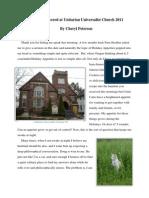 Sermon Delivered at Unitarian Universalist Church 2011