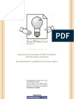 Interaction and integration of white certificates with other policy instruments