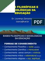 bases sociologicas da educação