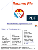 Chellarams Plc Corporate Profile