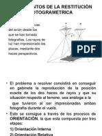 FUNDAMENTOS DE LA RESTITUCIÓN FOTOGRAMETRICA