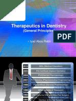 Therapeutics in Dentistry(General Principles)