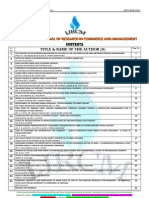 Abstracts of Vol-2 Issue-8 of International Journal of Research in Commerce & Management