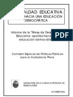 Informe Final Mesa de Desigualdad Educativa
