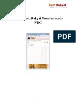 Manual VoIP Rakyat Comunicator (VRC)