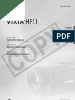 Canon HF11 Instruction Manual (English)